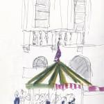 Loughborough Town Hall and the fair