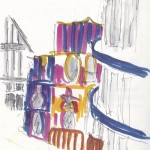 Helter Skelter Watercolour sketch
