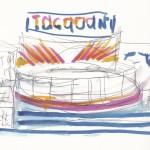 Loughborough fair watercolour sketch