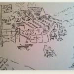 beach pencil sketch Joy Lockton