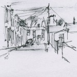 Albert Street sketch drawing Loughborough
