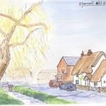 Brook Street Wymeswold sketch