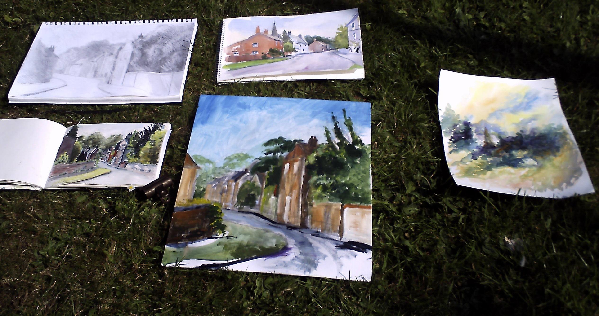 Sutton Bonnington Walk and Draw sketches