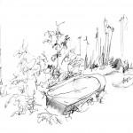 Leicestershire pen sketch peter hollis