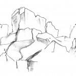 Warren Hills Leicestershire sketch Peter Hollis