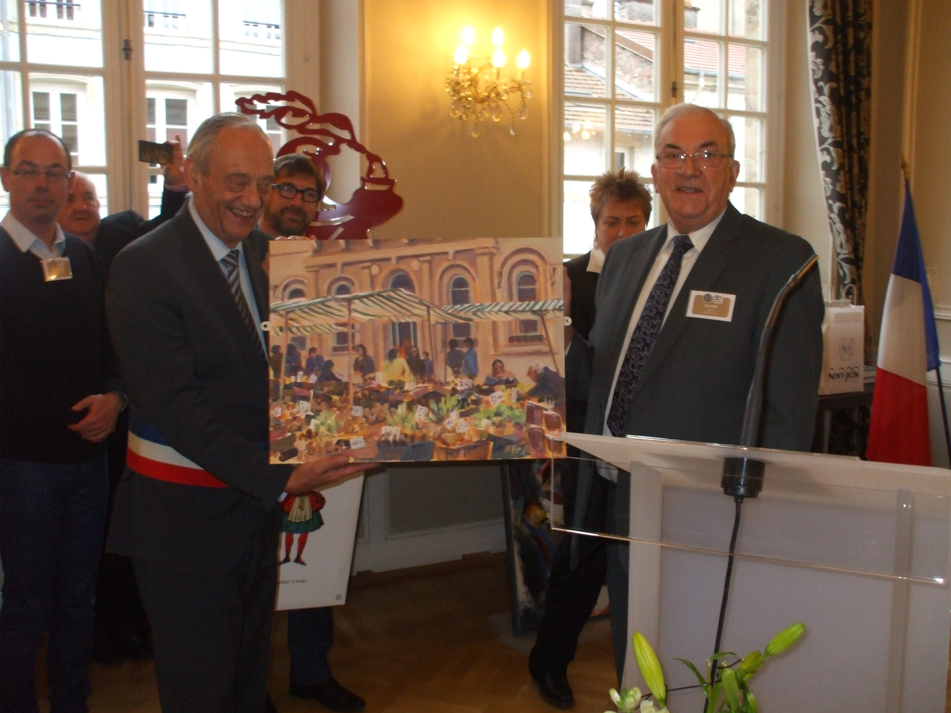 Mayor of Loughborough and the President of Epinal