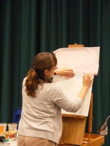 Sue Faulks painting