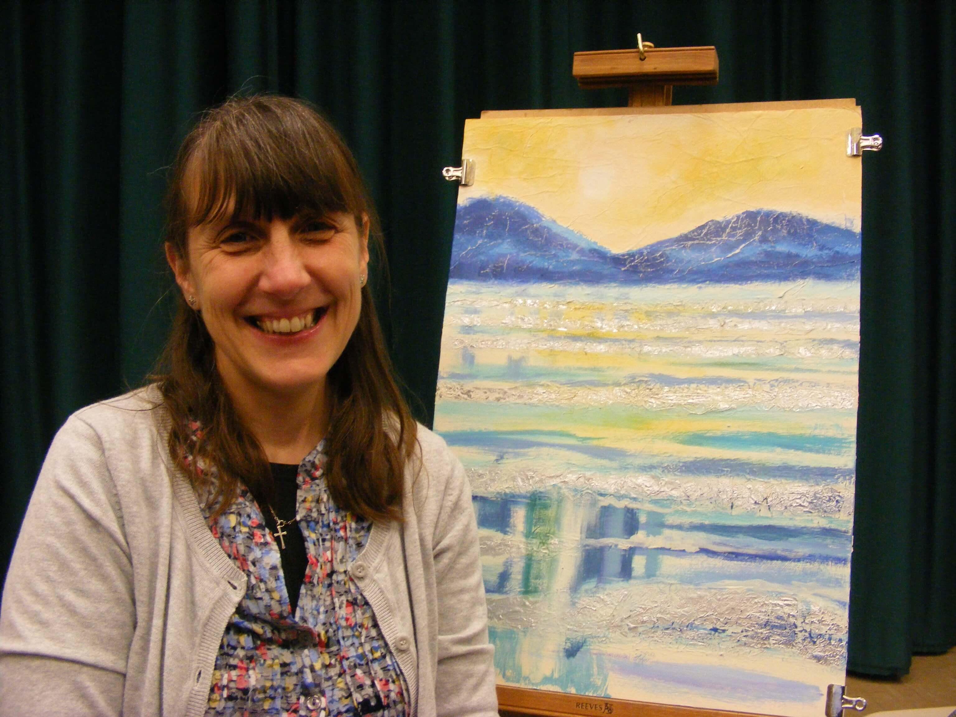 Sue Faulks Acrylic painting demonstration