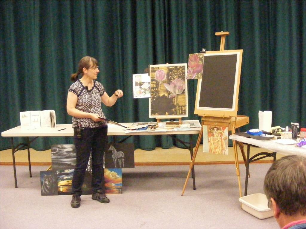 Sue Faulks demo October 2016 charnwood painting club