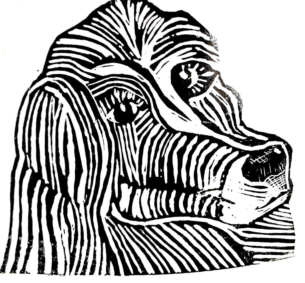 Lino cur scrappy dog Peter Hollis