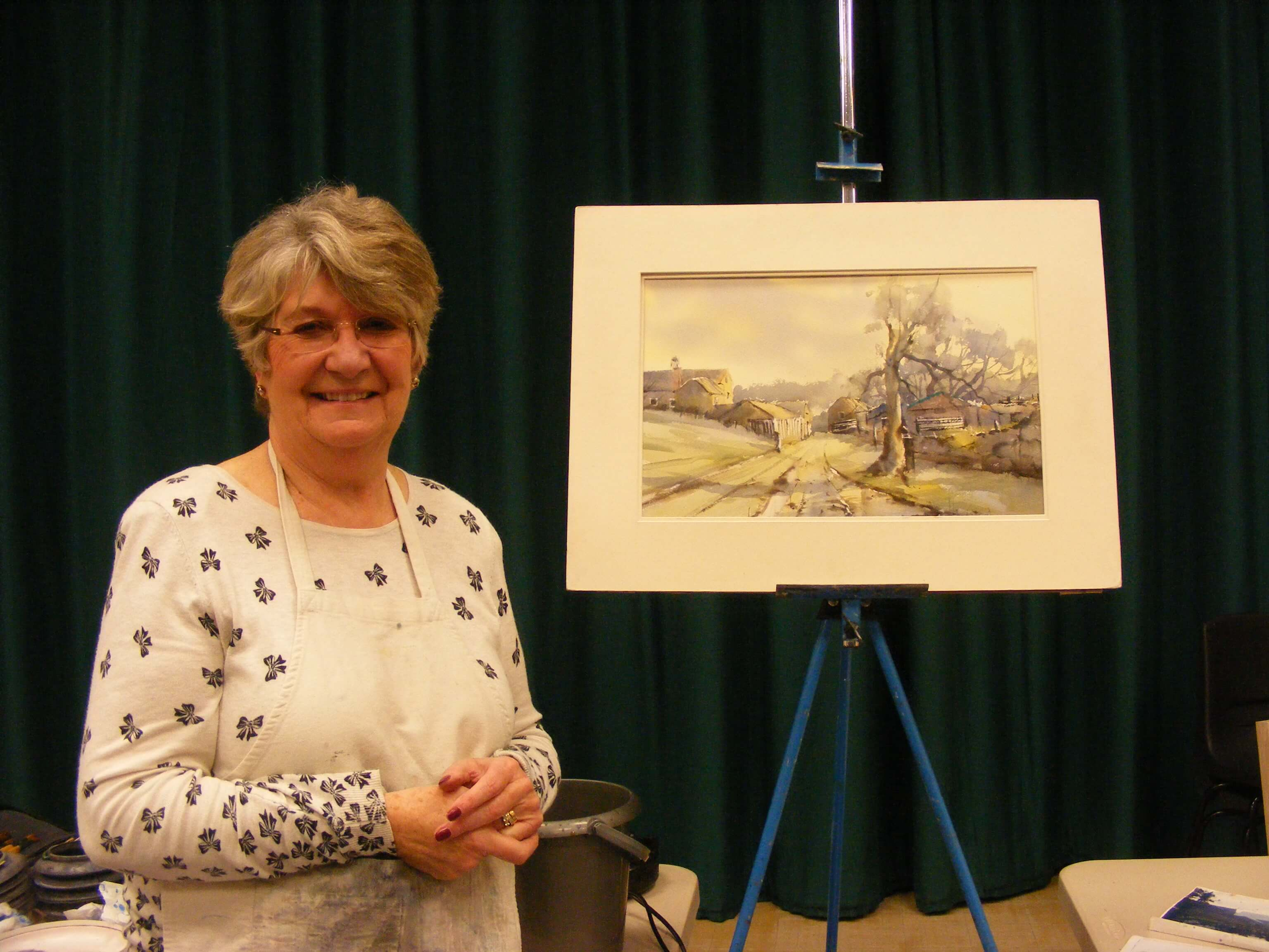 Carol Hill Demonstration with watercolour