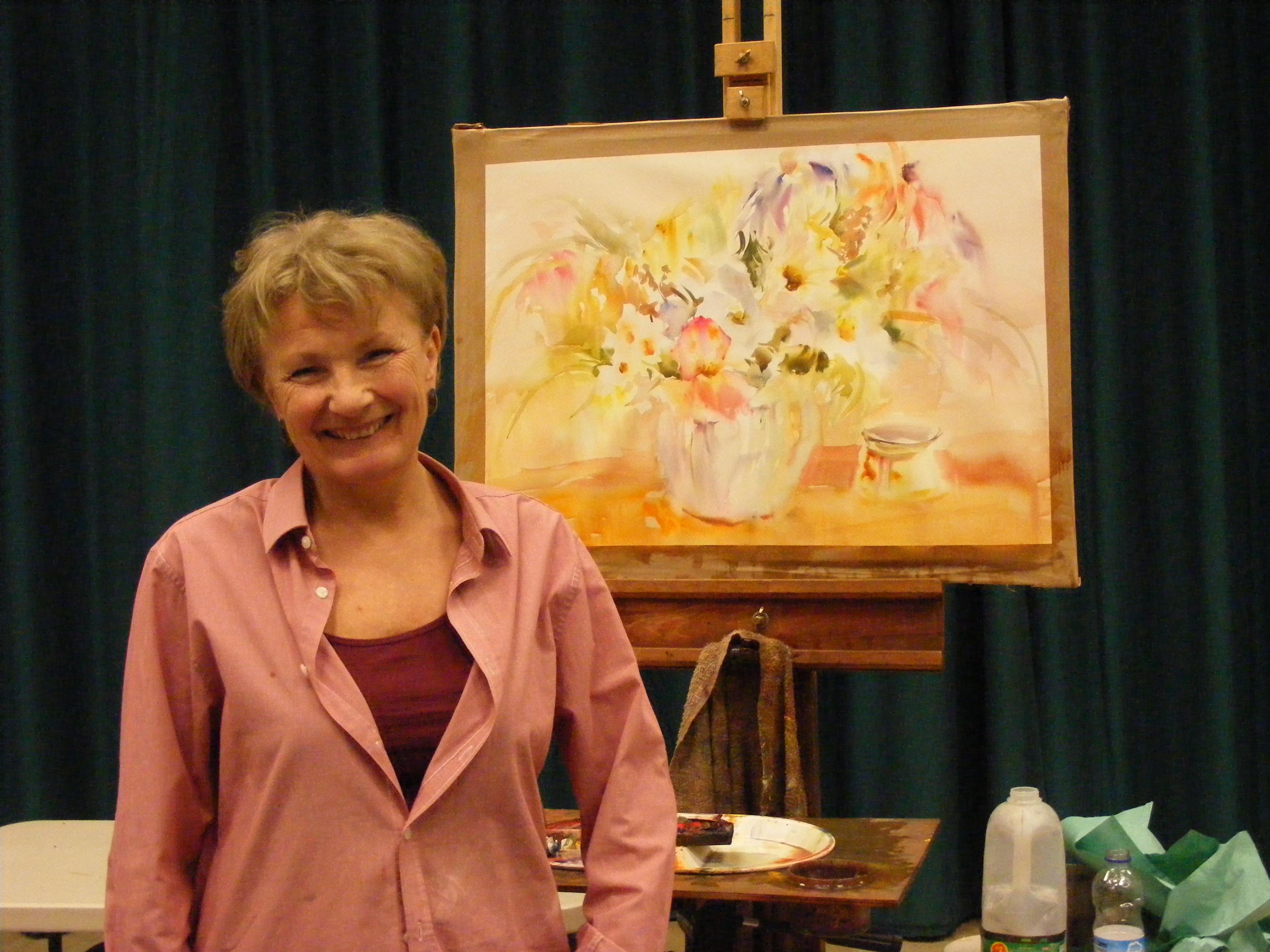 Christine Adams Watercolour still life