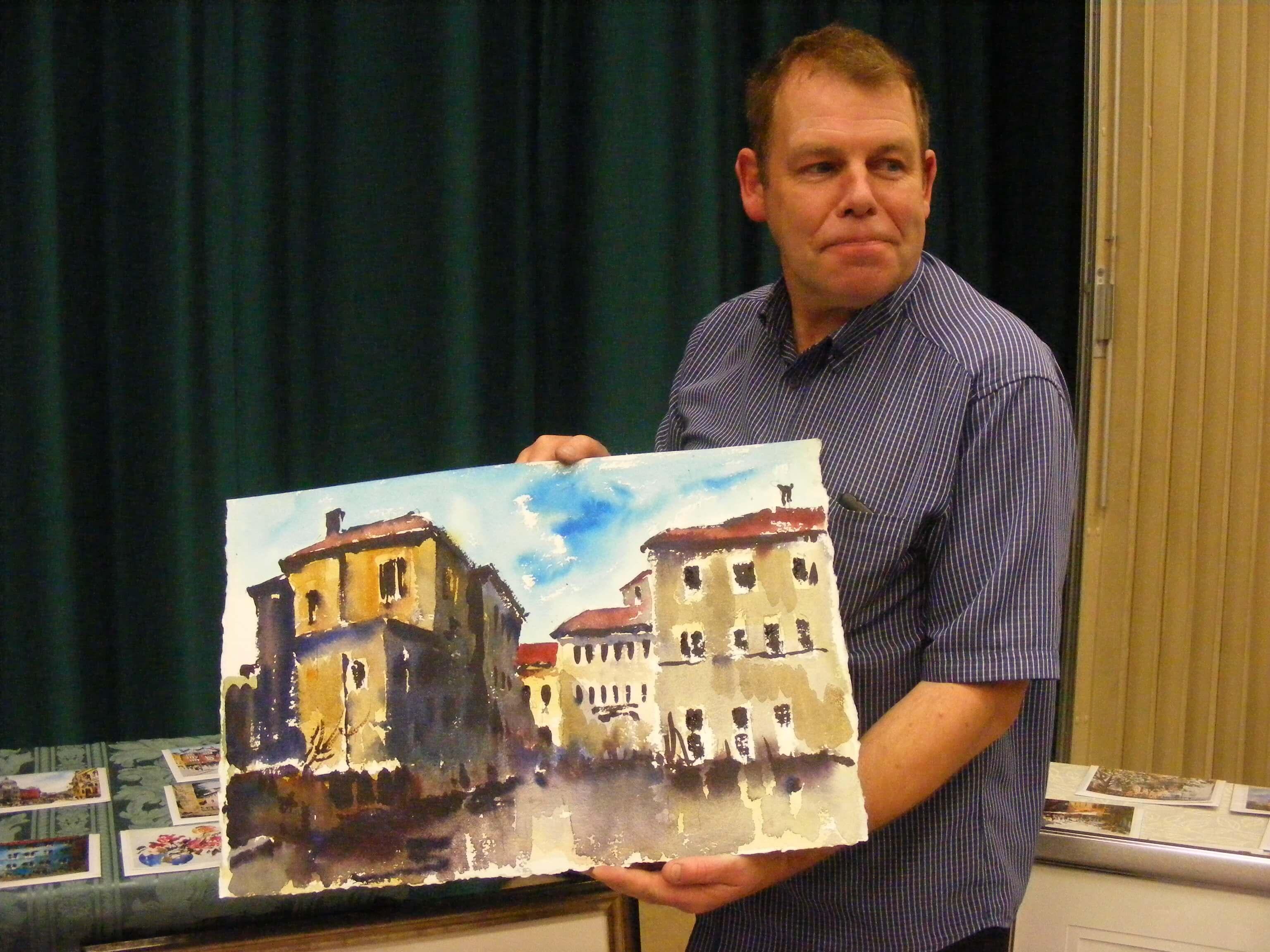 John Pooler and his watercolour