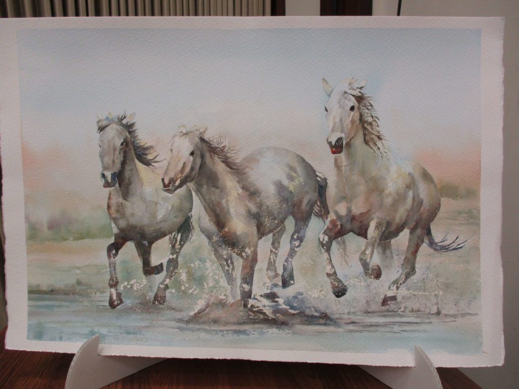 Sue Chatterton Horses watercolour painting