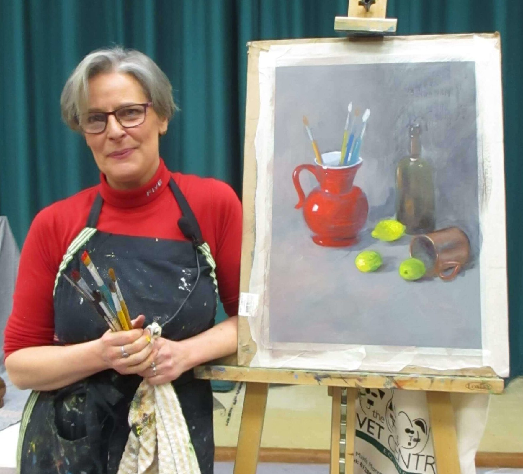 Sonia Bacchus Still Life painting in the style of old masters