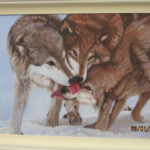 Wolves painting by Angela Gaughan