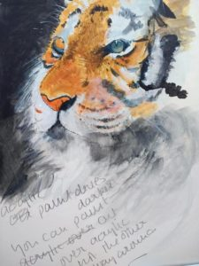 Penny Clay tiger acrylic painting