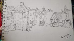 Joy Lockton - Barrow-upon-Soar pen sketch