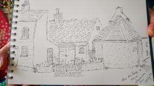 Joy Lockton - Barrow-upon-Soar old prison pen sketch